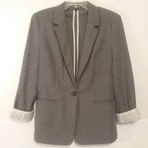 Express Blazer Textured Gray Large